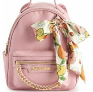 Juicy couture blush citrus bow backpack